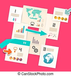 Paper Vector Infographic Layout