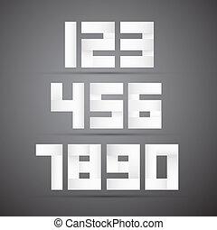 Paper Vector Numbers