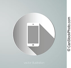 paper vector phone icon