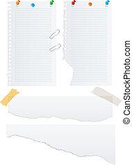 Paper vector set