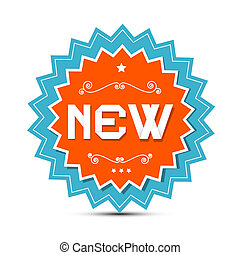 Paper Vector Sticker - Label with New Title