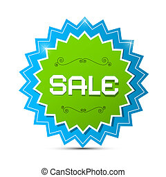 Paper Vector Sticker - Label with Sale Title