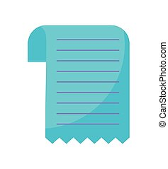 paper voucher isolated icon