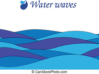 Paper wave text frame
