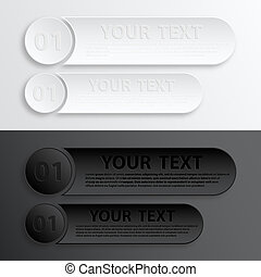 Paper Web Button Interface - Play web buttons for website or...