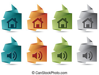 Paper web icons