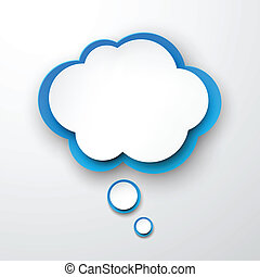 Paper white-blue cloud.