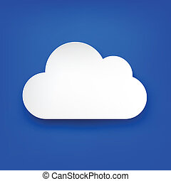 Paper white cloud on blue.