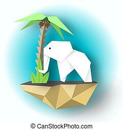 Paper White Elephant Art Design