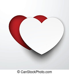 Paper white heart.