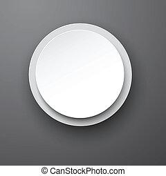 Paper white round bubble.