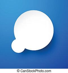 Paper white speech bubble.