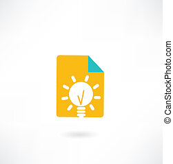 paper with a light bulb icon