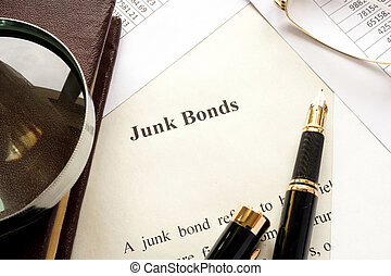 Paper with a title junk bonds.