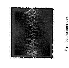 paper with abstract image - white background and black sheet...