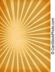 close-up of retro paper background with burst motive