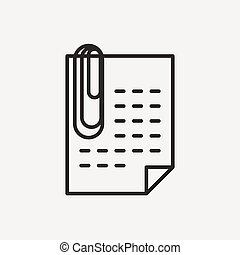 paper with clip icon