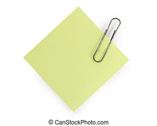Paper with clip