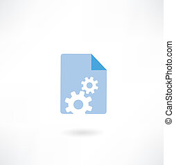 paper with cogs icon