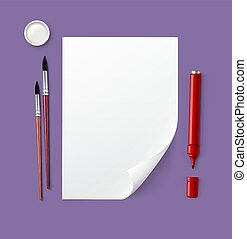 Paper with drawing tools