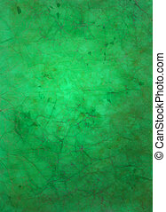 Paper with green and brown paint abstract