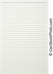 Green read note paper with thin line