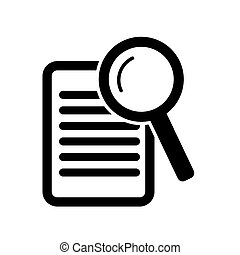 paper with magnifying glass