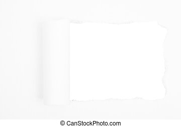 Paper with space on white