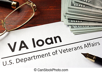 Paper with words va loan