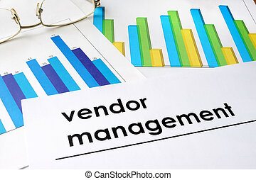 Vendor management - Paper with words Vendor management and...