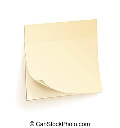 Paper Work Notes Isolated Vector. Blank Sticky Notes. Realistic Illustration On The Wall.