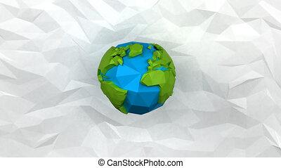 Paper world - 4K digital animation