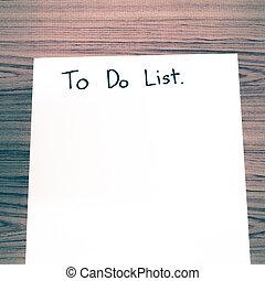 paper write to do list
