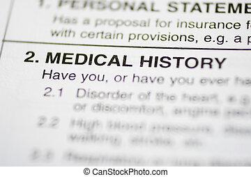 paperasserie, #1, -, histoire médicale