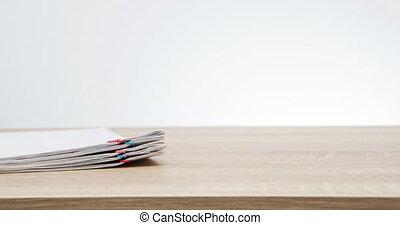 paperasserie, espace, défaillance, surcharge, tas, temps, rapport, copie