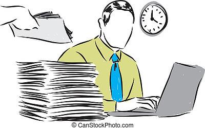 paperasserie, illustration affaires