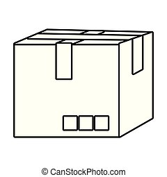 paperboard box cartoon