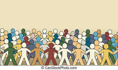 Paperchain crowd