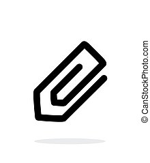 Paperclip icon on white background.