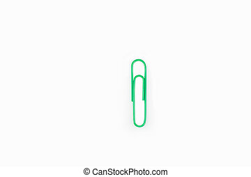paperclip isolated on white background