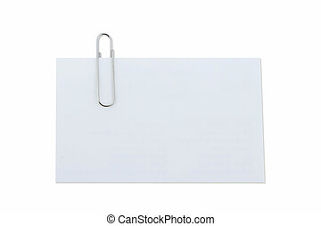 Paperclip on isolated white with clipping path.