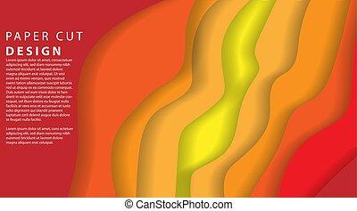 Papercut multi layers 3D color texture vector background