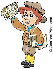 paperman, caricatura