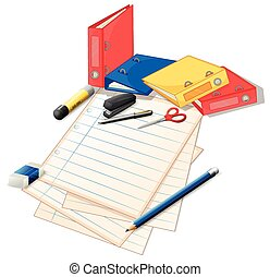 Papers and other office supplies
