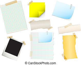 Papers and stickers - A collection of various papers and ...