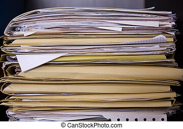 papers in a busy office