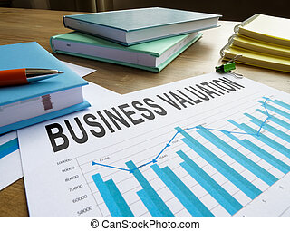 Papers with business valuation in the charts.