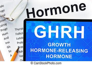 Growth hormone-releasing hormone - Papers with hormones list...