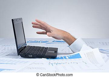 paperwork, afogamento, -, burocracia