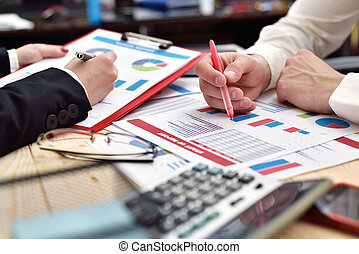paperwork at meeting